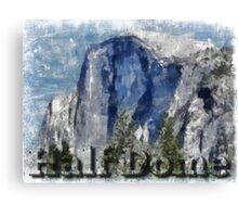 Rock Climbing Yosemite Half Dome Abstract Canvas Print