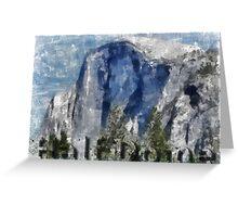 Rock Climbing Yosemite Half Dome Abstract Greeting Card