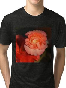 Strongly Pink - Tuberous Begonia Tri-blend T-Shirt