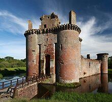 Caerlaverock Castle by Maria Gaellman