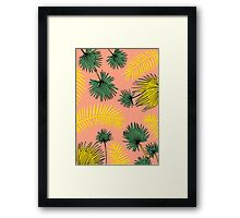 Tumblr Tropical Pattern Framed Print