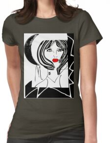 Half Moon Girl  Womens Fitted T-Shirt