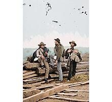 Workers in Gettysburg Photographic Print