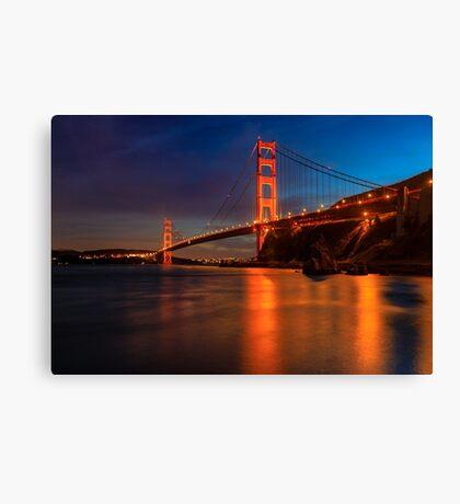 Golden Gate Bridge Last Light Canvas Print