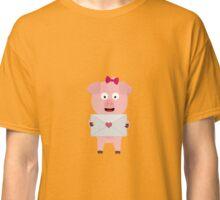 Female Pig with Loveletter Classic T-Shirt