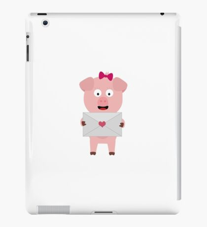 Female Pig with Loveletter iPad Case/Skin