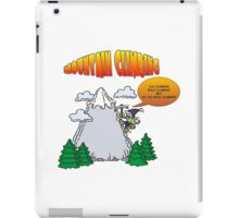 Funny Rock Climbing Cartoon iPad Case/Skin