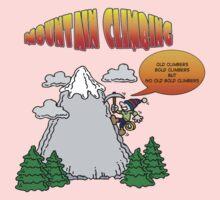Funny Rock Climbing Cartoon Kids Clothes
