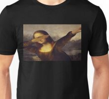 Dabbing Mona Lisa Unisex T-Shirt