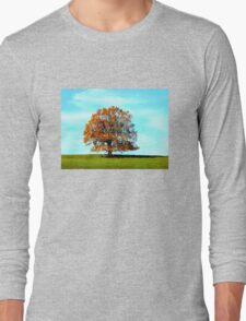 Tree in autumn colours Long Sleeve T-Shirt
