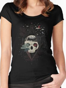 Happy Riddle T-shirt femme moulant à col profond