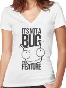 it's a feature Women's Fitted V-Neck T-Shirt