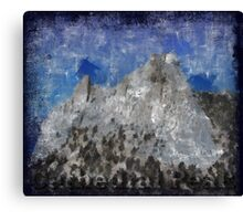 Rock Climbing Cathedral Peak Abstract Canvas Print