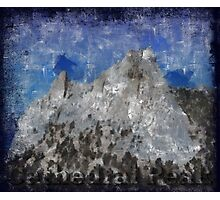 Rock Climbing Cathedral Peak Abstract Photographic Print