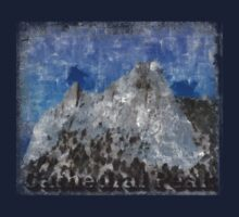 Rock Climbing Cathedral Peak Abstract by SportsT-Shirts