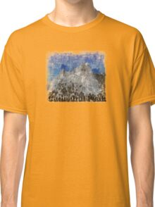 Rock Climbing Cathedral Peak Abstract Classic T-Shirt