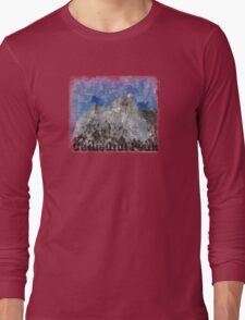 Rock Climbing Cathedral Peak Abstract Long Sleeve T-Shirt