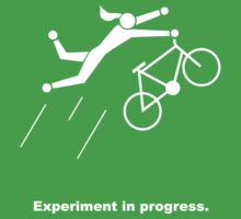 Experiment In Progress - Biking (Clothing) Kids Tee