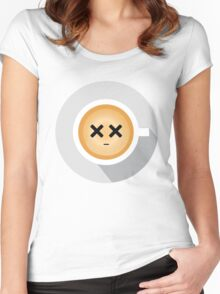 Gourmet Coffee Emoji Faint and Knock Out Women's Fitted Scoop T-Shirt