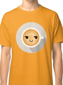 Gourmet Coffee Emoji Cheeky and Up to Something Classic T-Shirt