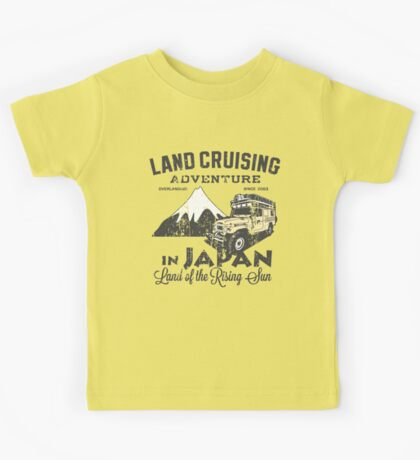 Landcruising Adventure in Japan - Straight font edition Kids Tee