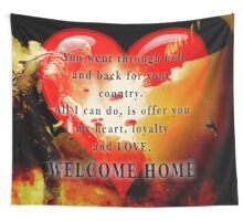 Love for Veterans Wall Tapestry