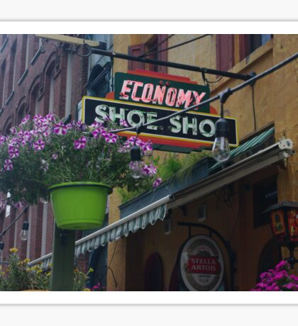 economy shoe shop in canada Sticker