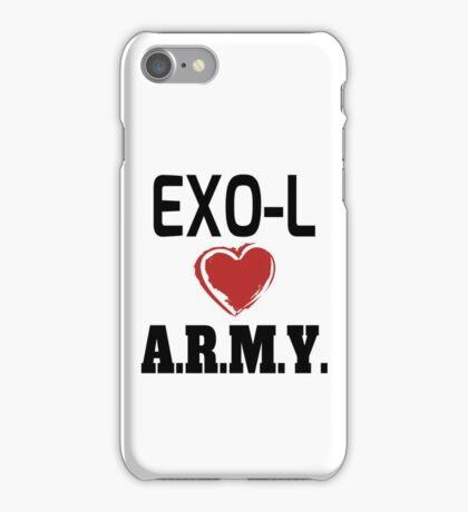 EXO-L Loves ARMY iPhone Case/Skin
