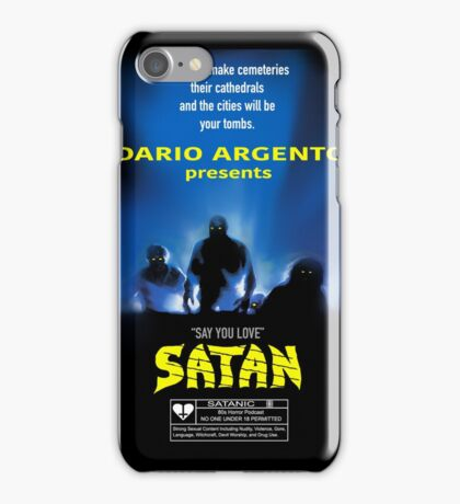 Say You Love Satan 80s Horror Podcast - Demons iPhone Case/Skin