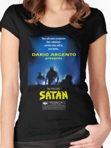 Say You Love Satan 80s Horror Podcast - Demons Women's Fitted Scoop T-Shirt