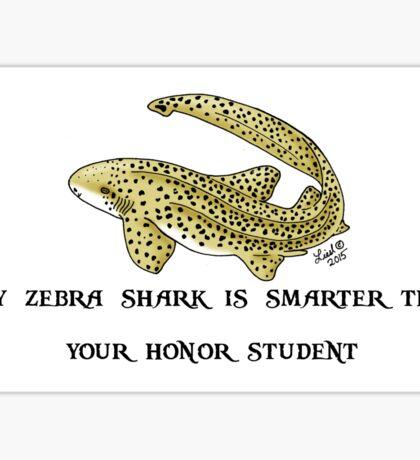 Smart Zebra Shark Sticker