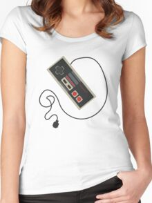 Old School Gaming  Women's Fitted Scoop T-Shirt