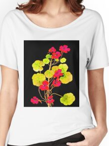 Nasturtiums on Black Women's Relaxed Fit T-Shirt