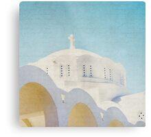 The White Arches - Santorini Metal Print
