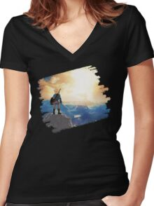 Breath of The Wild Women's Fitted V-Neck T-Shirt