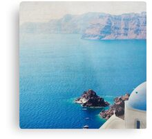 Seascape - Santorini Metal Print