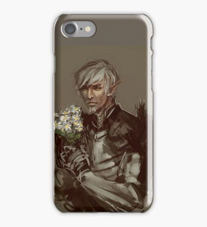 Fenris and Flowers iPhone Case/Skin