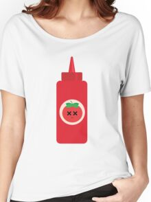 Ketchup Sauce Emoji Faint and Knock Out Women's Relaxed Fit T-Shirt