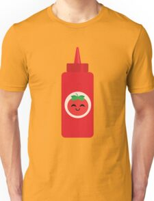 Ketchup Sauce Emoji Happy with Joy Unisex T-Shirt
