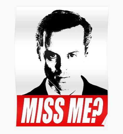 Miss Me? - Jim Moriarty - Sherlock Poster