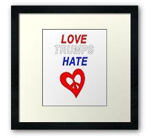 Love Trumps Hate Peace Design Framed Print