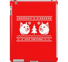 DOGE UGLY CHRISTMAS SWEATER PATTERN iPad Case/Skin