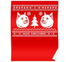 DOGE UGLY CHRISTMAS SWEATER PATTERN Poster