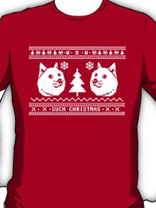 DOGE UGLY CHRISTMAS SWEATER PATTERN T-Shirt