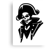 Captain Pirate Skull  Canvas Print