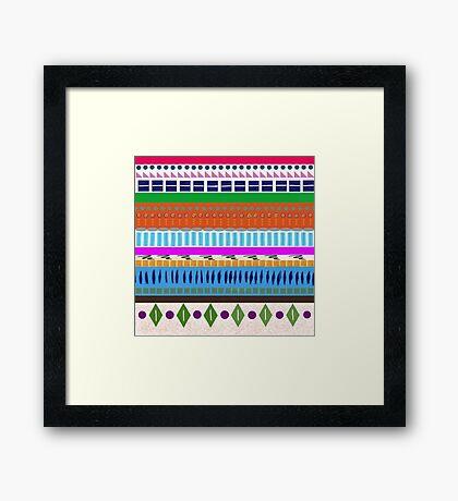 Bright geometric Stripes Framed Print