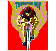 TWO WHEEL TRIP; Vintage Bicycle Racing Print Photographic Print
