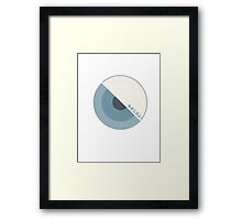 """modernism!"" Blue Framed Print"