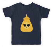 Mustard Sauce Emoji Cool Sunglasses Kids Tee