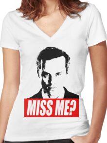 Miss Me? - Jim Moriarty - Sherlock Women's Fitted V-Neck T-Shirt